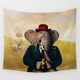 Mr. Preston J. Pachyderm visits the Sphinx Wall Tapestry