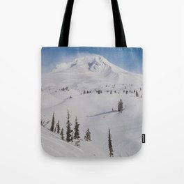 Snowy Mount Hood Tote Bag