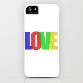 Love (Color) iPhone Case