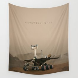Farewell, Oppy. Wall Tapestry