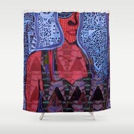 Caribbean Deity Lady of the Sea Yemaya Acrylic Portrait Shower Curtain