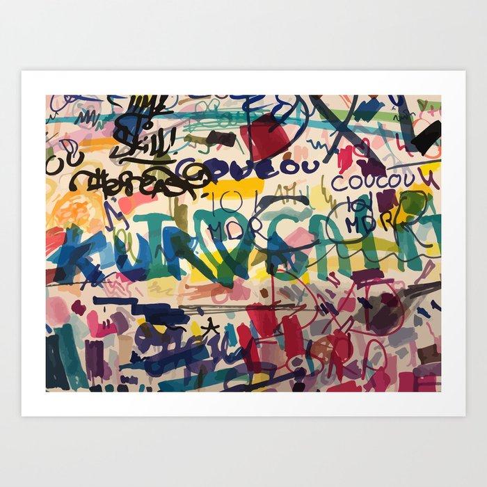 Urban Graffiti Paper Street Art Kunstdrucke
