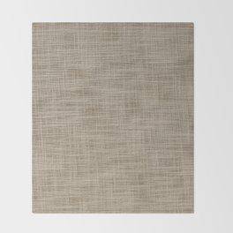 Gunny cloth Throw Blanket