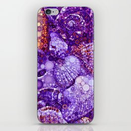 Seashells Abstract in Violet iPhone Skin