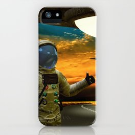Hitchinghiking Across The Universe iPhone Case