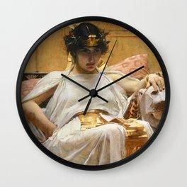 John William Waterhouse - Cleopatra Wall Clock