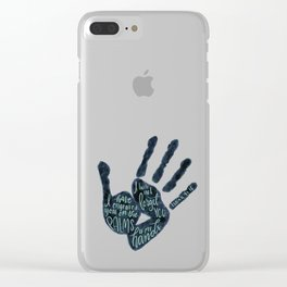 Isaiah 49:16 - Palms of his hands Clear iPhone Case