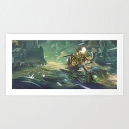 Escape + Pin up  Art Print