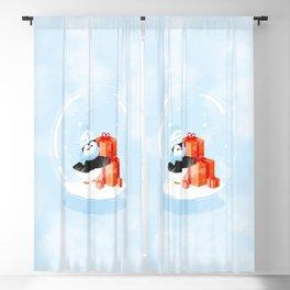 Christmas Penguin Blackout Curtain