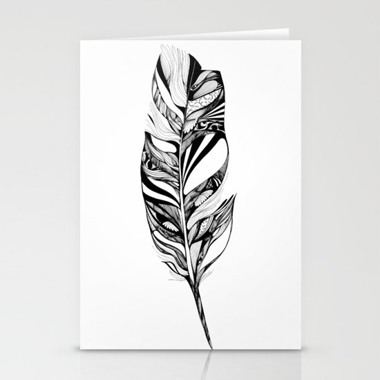 Feather - Lucidity Stationery Cards