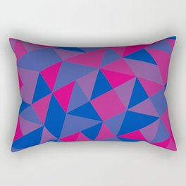 Bisexual Pride Tilted Geometric Shapes Collage Rectangular Pillow