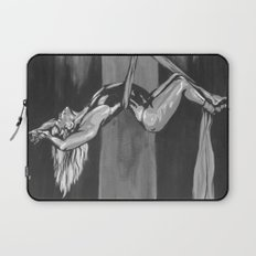 Hanging by a Thread Black and White Laptop Sleeve