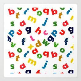 colourful alphabet Art Print