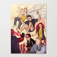 xmen Canvas Prints featuring  Tribute to X-Men #1 by David M. Buisán