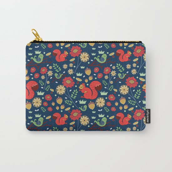 Let's go nuts! - Surface Pattern Design - ByBeck Carry-All Pouch