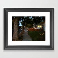 Yellow Swing Framed Art Print