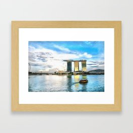 Hotel Marina Bay Sands and ArtScience Museum, Singapore Framed Art Print