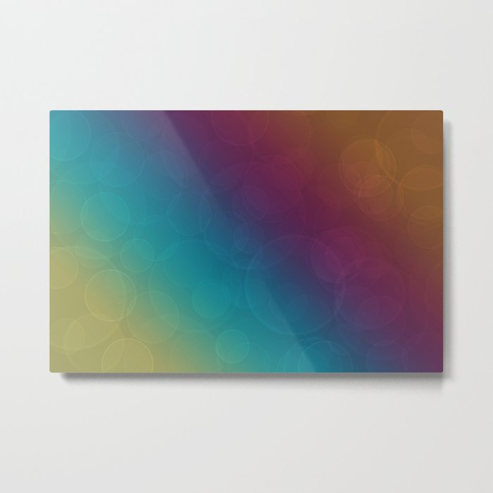 Bohek Bubbles on Rainbow of Color - Ombre multi Colored Spheres Metal Print