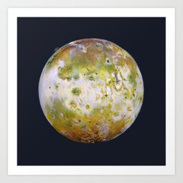 Portrait of Io (with plume) Art Print