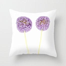 Onion Flower Throw Pillow