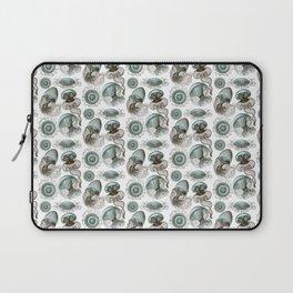 Ernst Haeckel Jellyfish Leptomedusae Cyan Brown Laptop Sleeve