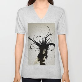 girl in the hat Unisex V-Neck