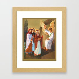 Easter - Myrrh Bearing Women Framed Art Print