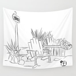 Beach Days - Line Art Wall Tapestry