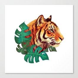 Monstera Tiger Canvas Print