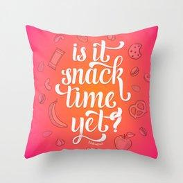 Snack Time Throw Pillow