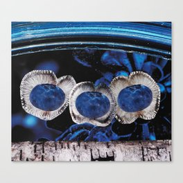 Triplet Third Eye Rising Above, Out of Rich Deep Blues Canvas Print