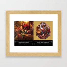 Owl Lady Framed Art Print