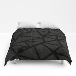 Ab Marble Zoom Black Comforters