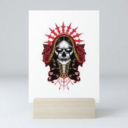 Evil Look La Calavera Catrina - Santa Muerte Mini Art Print