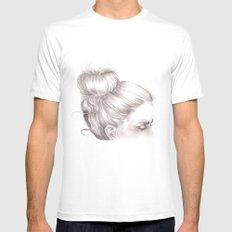 Loveland // Fashion Illustration Mens Fitted Tee White MEDIUM