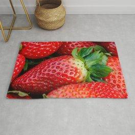 Big red juicy strawberry Rug