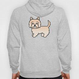 Cute Cream Cairn Terrier Dog Cartoon Illustration Hoody