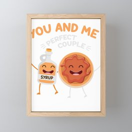 Couple Boyfriend Girlfriend Valentines Day Breakfast Pair Pancake Maple Syrup You And Me Framed Mini Art Print