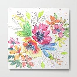 Vivid flowers medley Metal Print