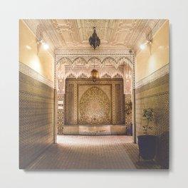 Marrakech Artisan Palace Metal Print