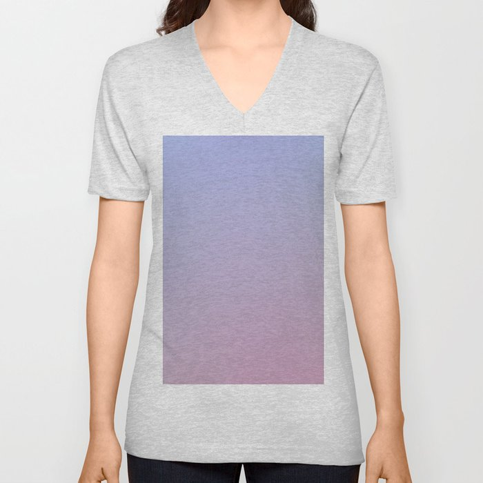 LAVENDER - Minimal Plain Soft Mood Color Blend Prints Unisex V-Neck