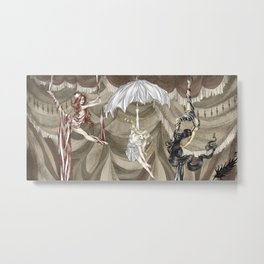 Midnight Circus: the Acrobats Metal Print