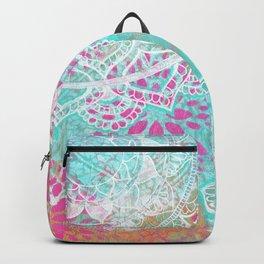 Mixed Media Indian Mandala Backpack