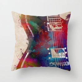 Guitar art 14 #guitar #music Throw Pillow
