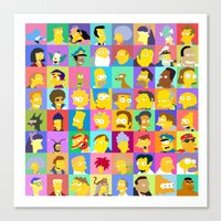 simpsons Canvas Prints featuring Simpsons by thev clothing