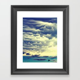 Mammatus Clouds II Framed Art Print