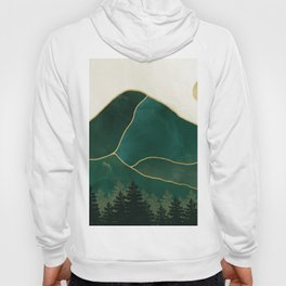 Mt Hood Emerald Mountain Abstract Hoody