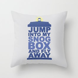 Snog Box (Tardis) Throw Pillow