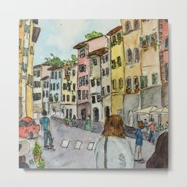 A Stroll Through Florence Metal Print