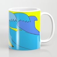 surfer Mugs featuring Surfer by melanie johnsson